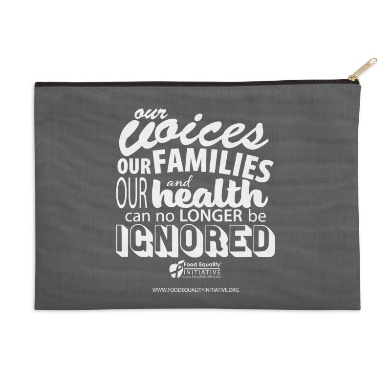 """FEI's Be Bold Quote Accessories Zip Pouch by FoodEqualityShop""""s Artist Shop"""