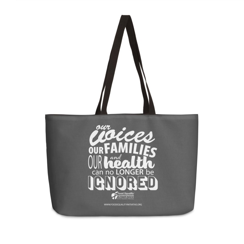 """FEI's Be Bold Quote Accessories Bag by FoodEqualityShop""""s Artist Shop"""