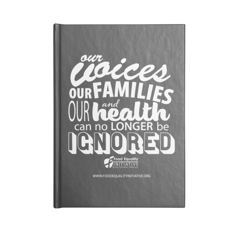 """FEI's Be Bold Quote Accessories Notebook by FoodEqualityShop""""s Artist Shop"""