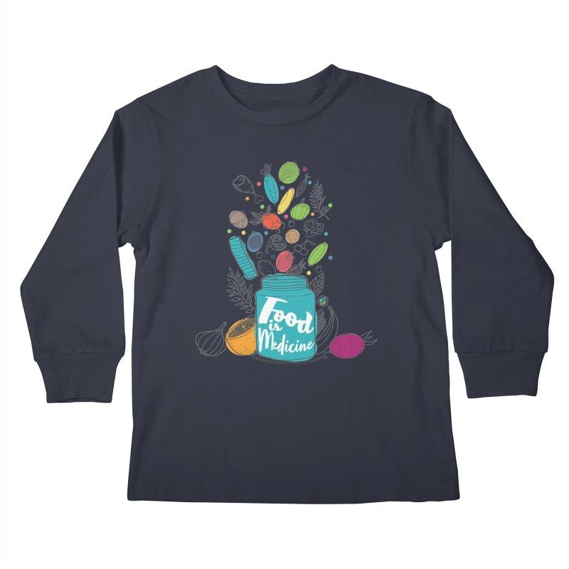 "Food is Medicine Kids Longsleeve T-Shirt by FoodEqualityShop""s Artist Shop"
