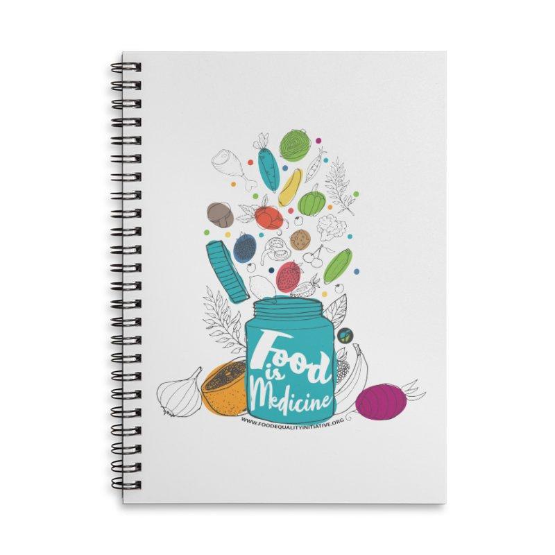 """Food is Medicine Accessories Notebook by FoodEqualityShop""""s Artist Shop"""