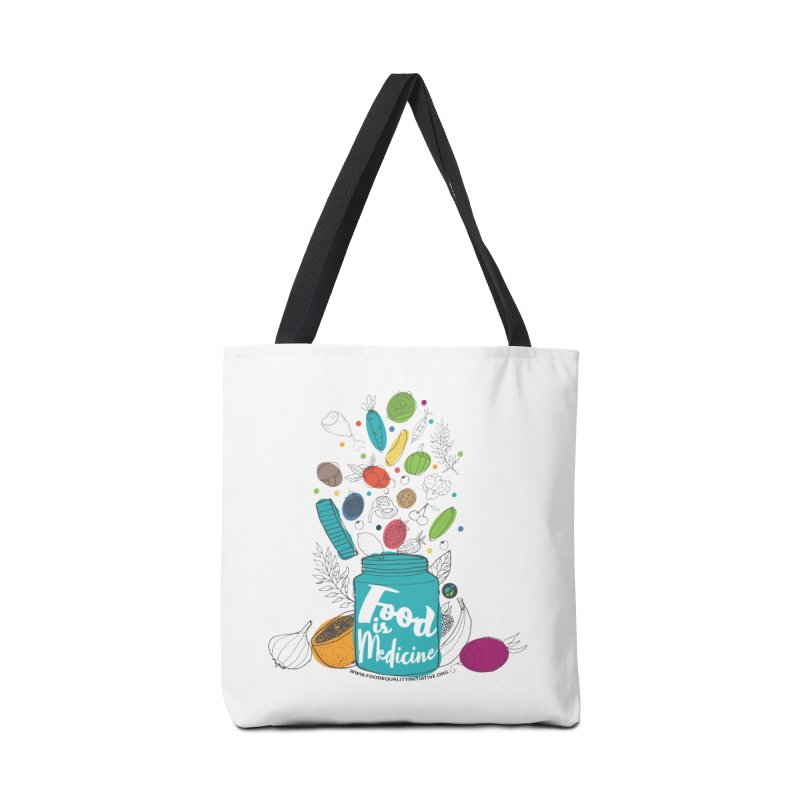 """Food is Medicine Accessories Bag by FoodEqualityShop""""s Artist Shop"""