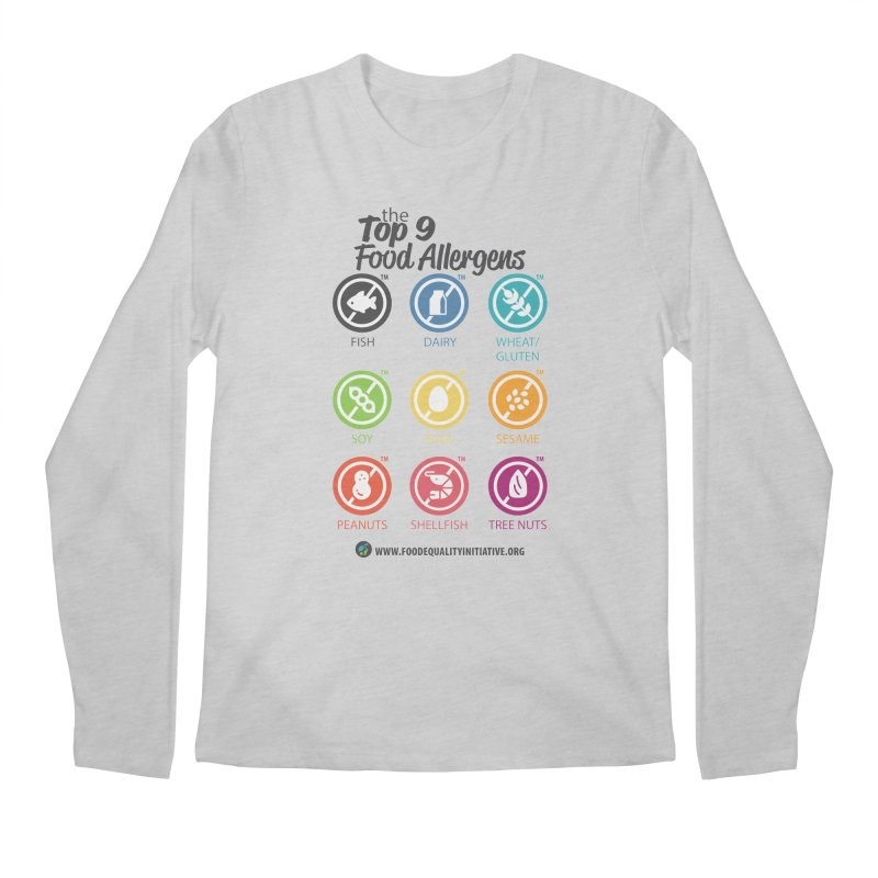 """The Top 9 Food Allergens Men's Longsleeve T-Shirt by FoodEqualityShop""""s Artist Shop"""