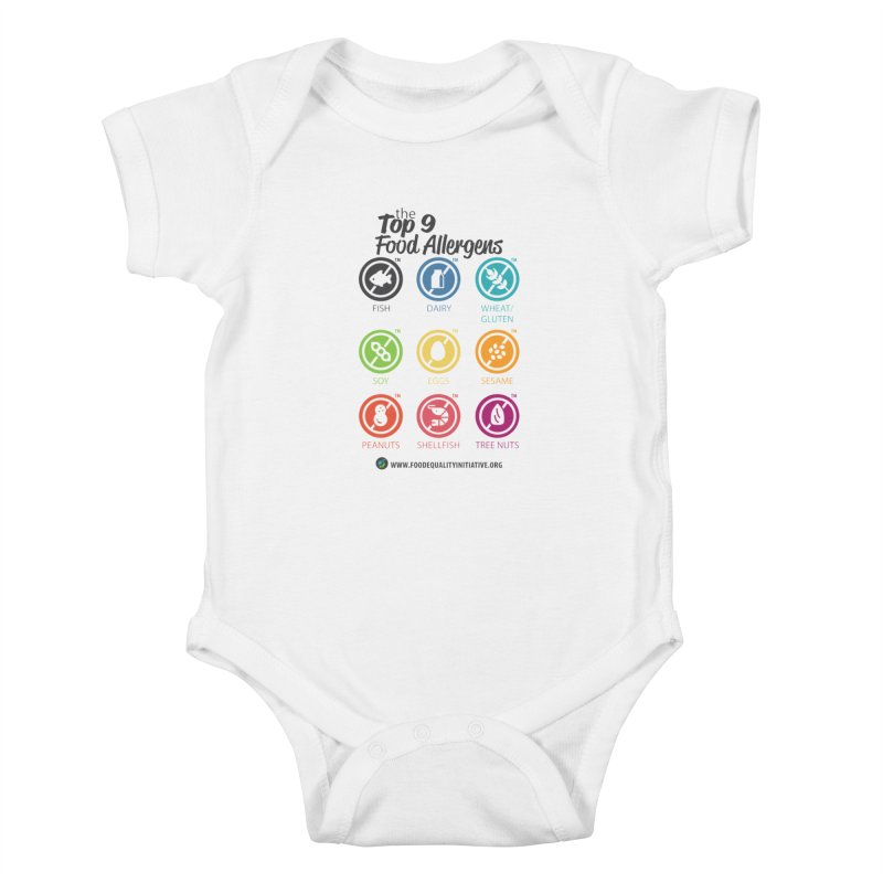 "The Top 9 Food Allergens Kids Baby Bodysuit by FoodEqualityShop""s Artist Shop"
