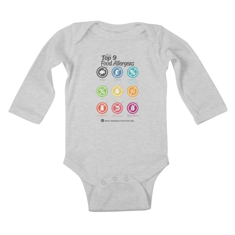 "The Top 9 Food Allergens Kids Baby Longsleeve Bodysuit by FoodEqualityShop""s Artist Shop"