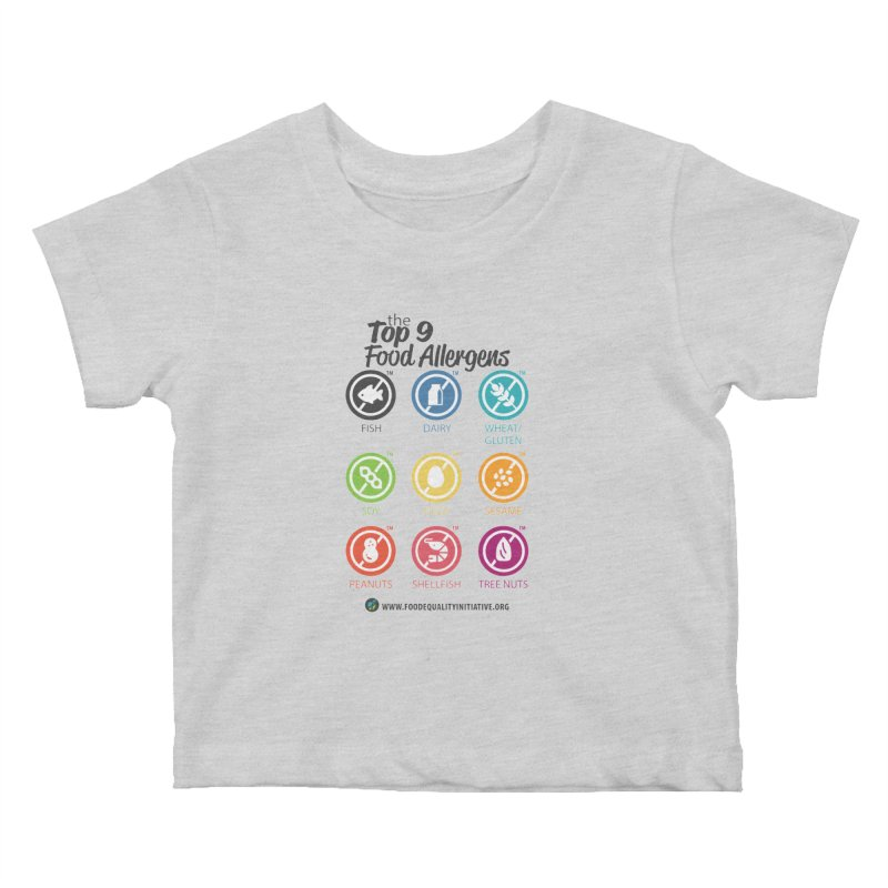 "The Top 9 Food Allergens Kids Baby T-Shirt by FoodEqualityShop""s Artist Shop"