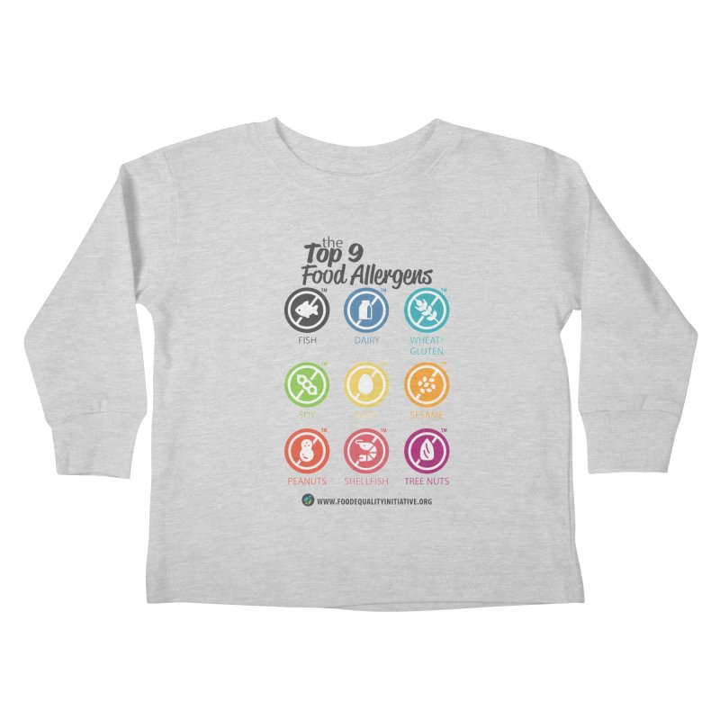 """The Top 9 Food Allergens Kids Toddler Longsleeve T-Shirt by FoodEqualityShop""""s Artist Shop"""