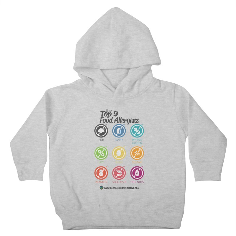 """The Top 9 Food Allergens Kids Toddler Pullover Hoody by FoodEqualityShop""""s Artist Shop"""