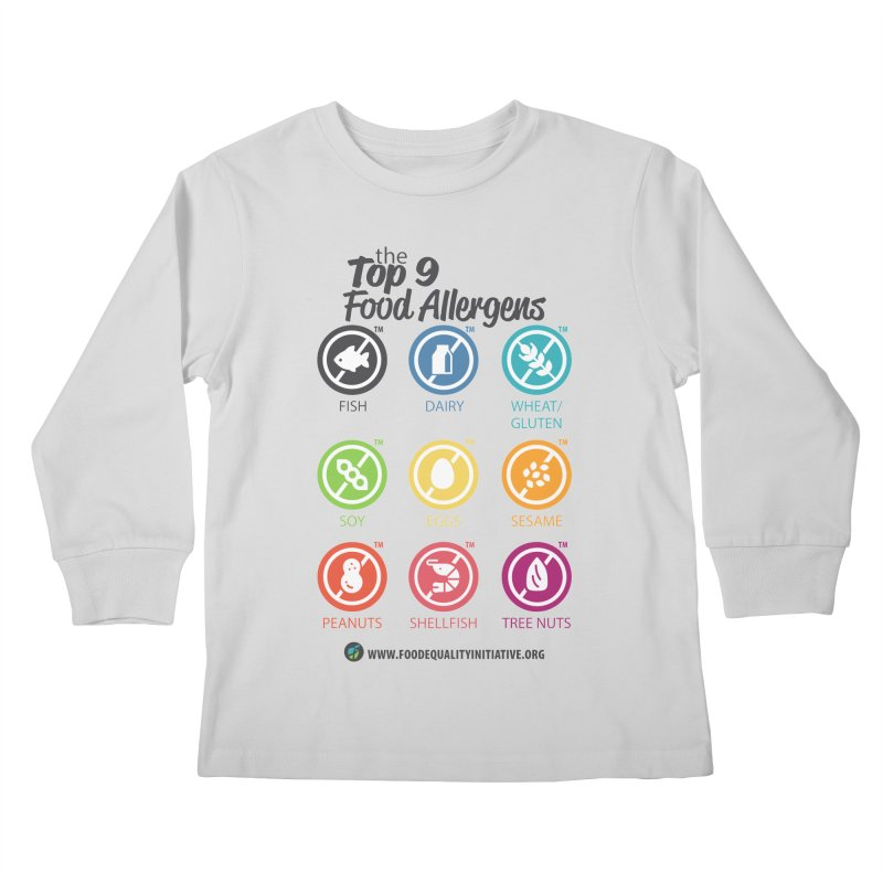 """The Top 9 Food Allergens Kids Longsleeve T-Shirt by FoodEqualityShop""""s Artist Shop"""
