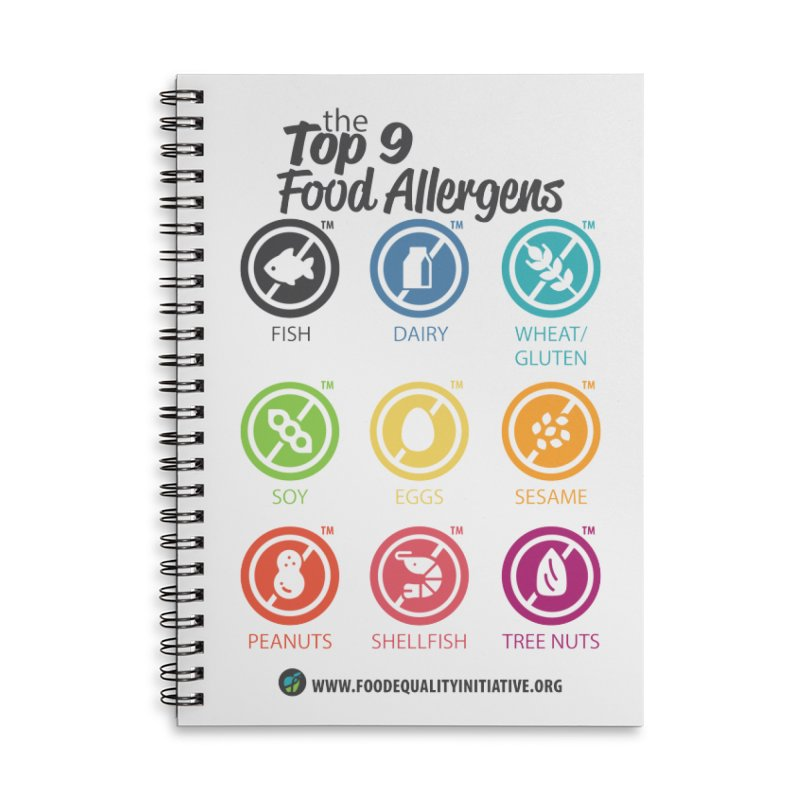 "The Top 9 Food Allergens Accessories Notebook by FoodEqualityShop""s Artist Shop"