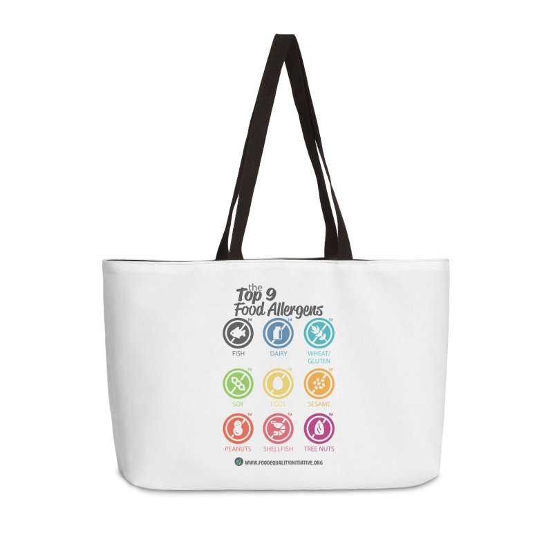 """The Top 9 Food Allergens Accessories Bag by FoodEqualityShop""""s Artist Shop"""