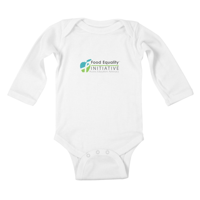 "FEI Logo Kids Baby Longsleeve Bodysuit by FoodEqualityShop""s Artist Shop"