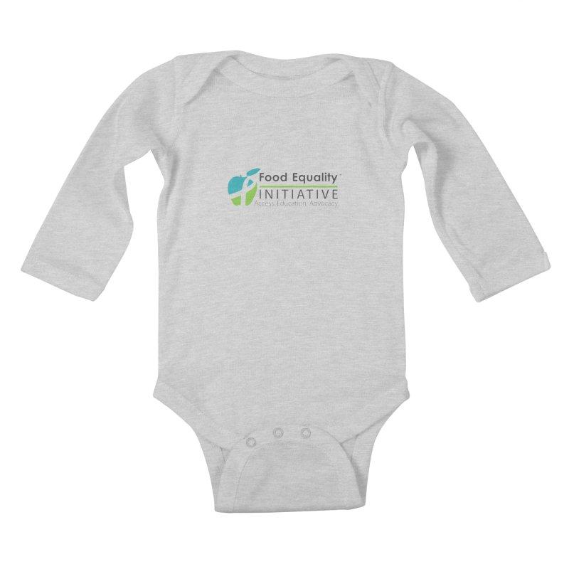 "FEI Logo Kids Baby Longsleeve Bodysuit by FoodEqualityShop""s Artist Shop"