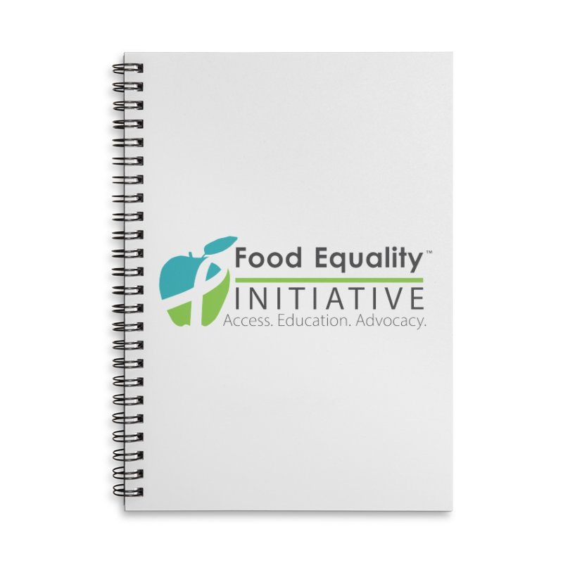 """FEI Logo Accessories Notebook by FoodEqualityShop""""s Artist Shop"""