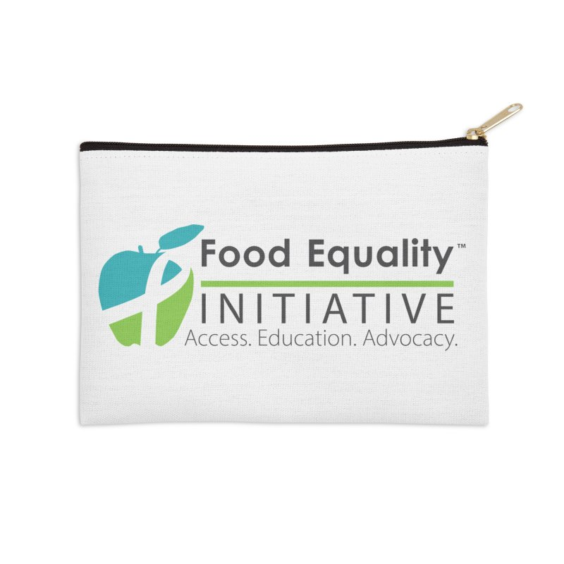 """FEI Logo Accessories Zip Pouch by FoodEqualityShop""""s Artist Shop"""