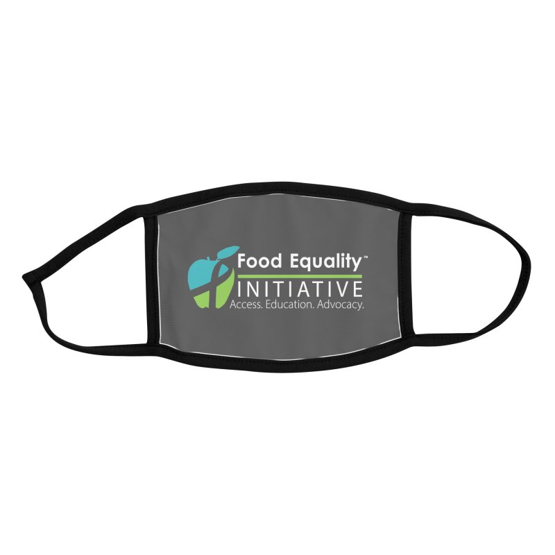 """FEI Logo in White Accessories Face Mask by FoodEqualityShop""""s Artist Shop"""
