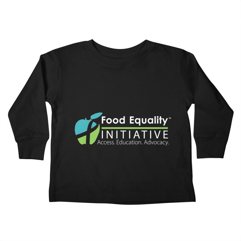 "FEI Logo in White Kids Toddler Longsleeve T-Shirt by FoodEqualityShop""s Artist Shop"