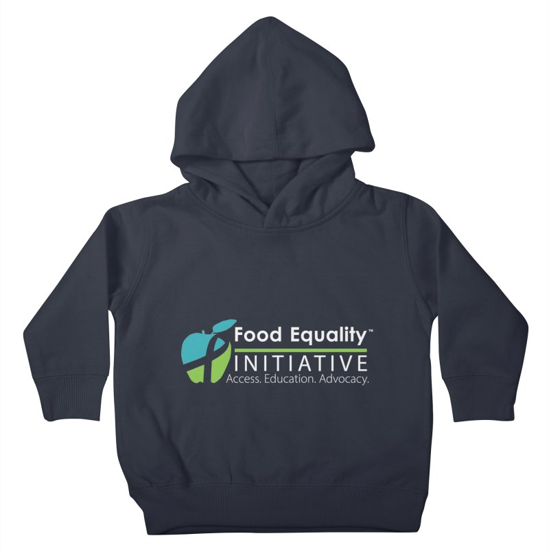 """FEI Logo in White Kids Toddler Pullover Hoody by FoodEqualityShop""""s Artist Shop"""