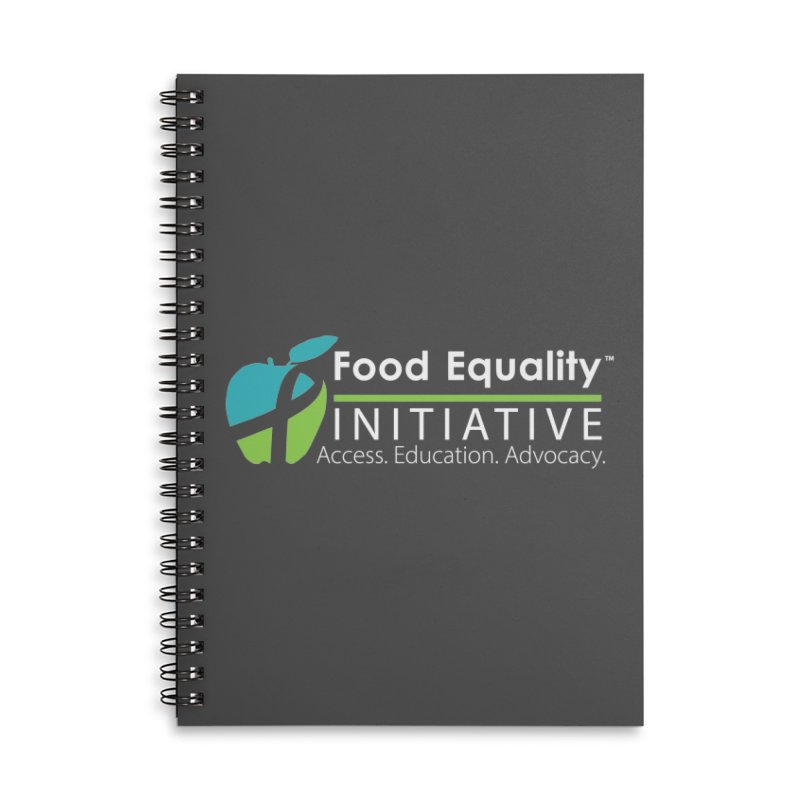"""FEI Logo in White Accessories Notebook by FoodEqualityShop""""s Artist Shop"""