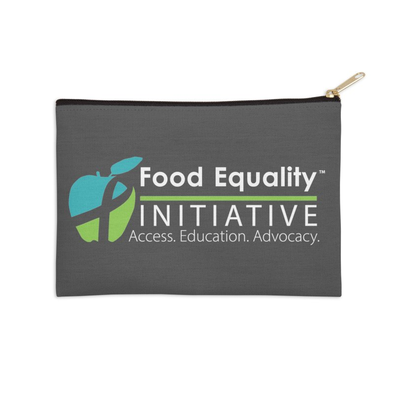 "FEI Logo in White Accessories Zip Pouch by FoodEqualityShop""s Artist Shop"