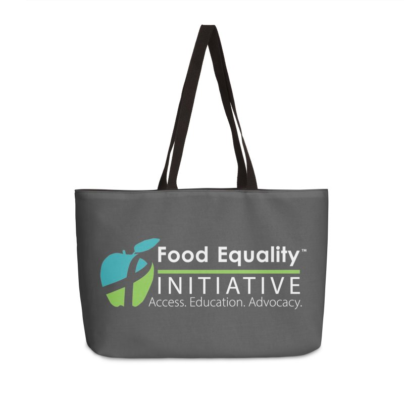 "FEI Logo in White Accessories Bag by FoodEqualityShop""s Artist Shop"