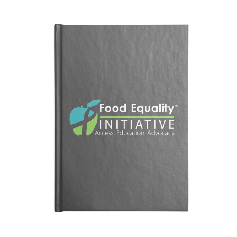"FEI Logo in White Accessories Notebook by FoodEqualityShop""s Artist Shop"