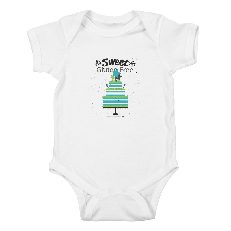 """I Am As Sweet As Gluten-Free Cake Kids Baby Bodysuit by FoodEqualityShop""""s Artist Shop"""