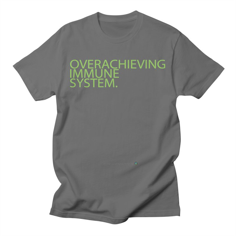 """Overachieving Immune System in Green Men's T-Shirt by FoodEqualityShop""""s Artist Shop"""