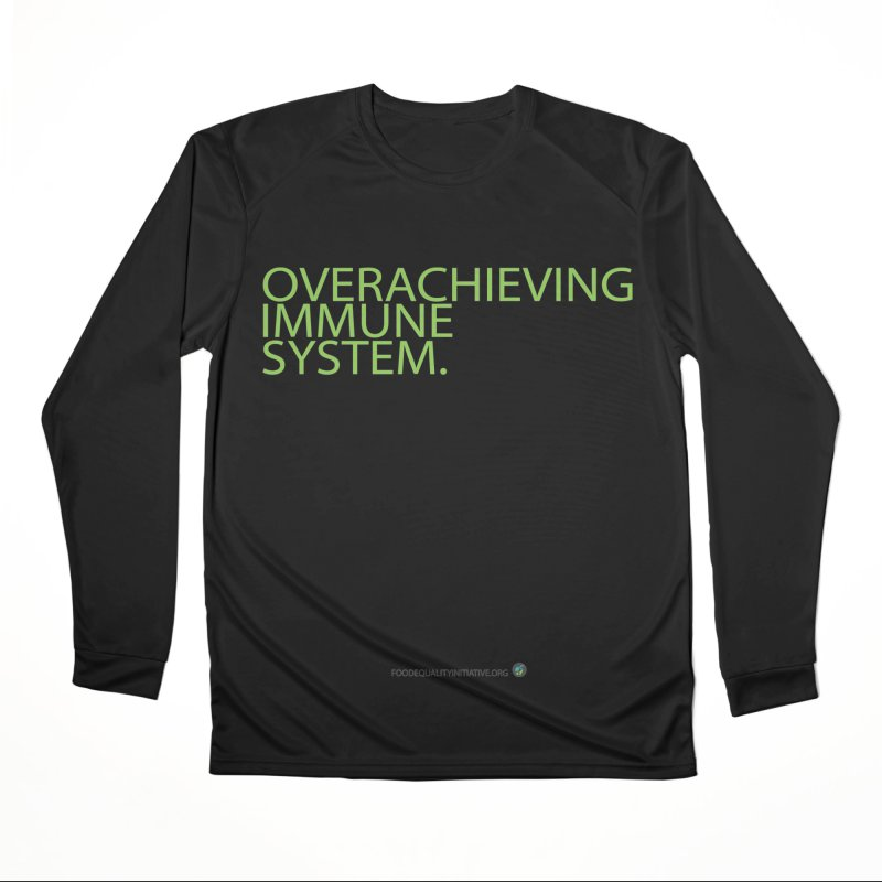 """Overachieving Immune System in Green Men's Longsleeve T-Shirt by FoodEqualityShop""""s Artist Shop"""