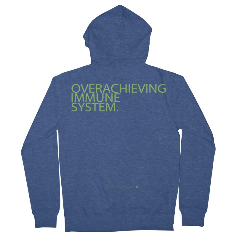"""Overachieving Immune System in Green Men's Zip-Up Hoody by FoodEqualityShop""""s Artist Shop"""