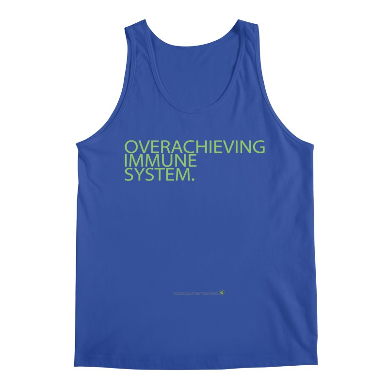 """Overachieving Immune System in Green Men's Tank by FoodEqualityShop""""s Artist Shop"""