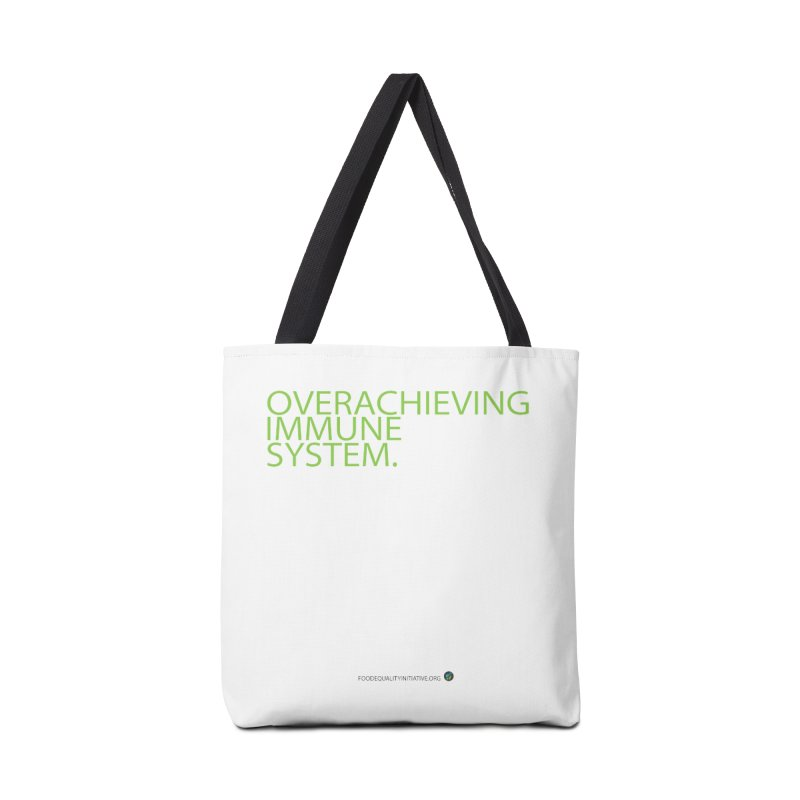 """Overachieving Immune System in Green Accessories Bag by FoodEqualityShop""""s Artist Shop"""