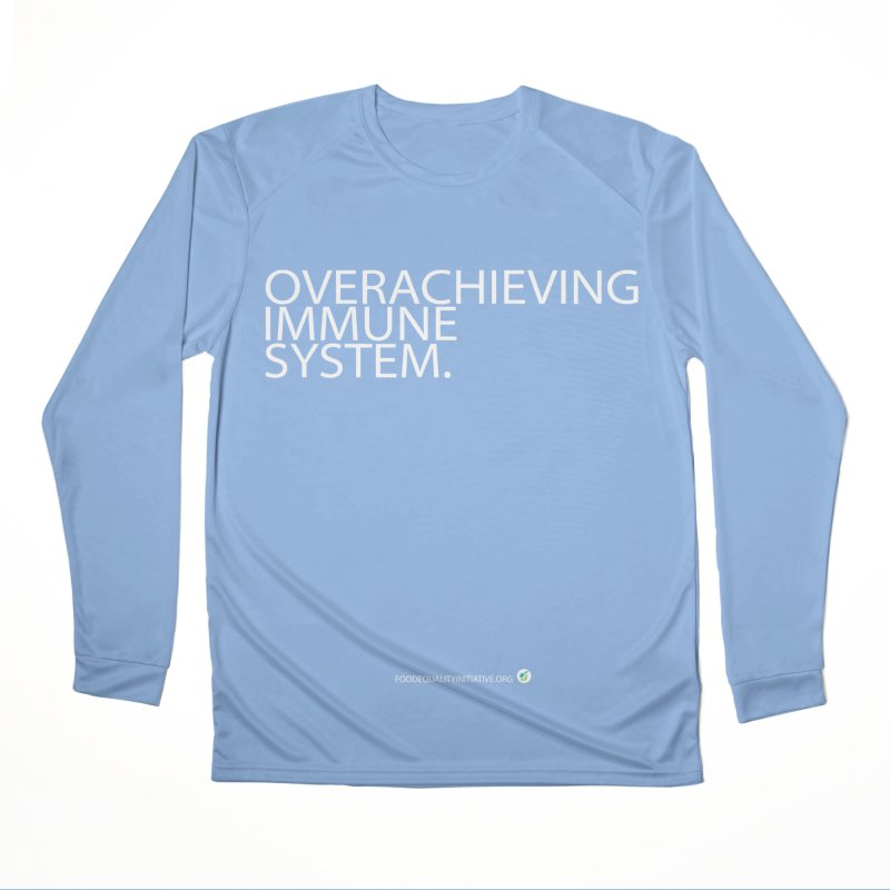"""Overachieving Immune System in White Men's Longsleeve T-Shirt by FoodEqualityShop""""s Artist Shop"""