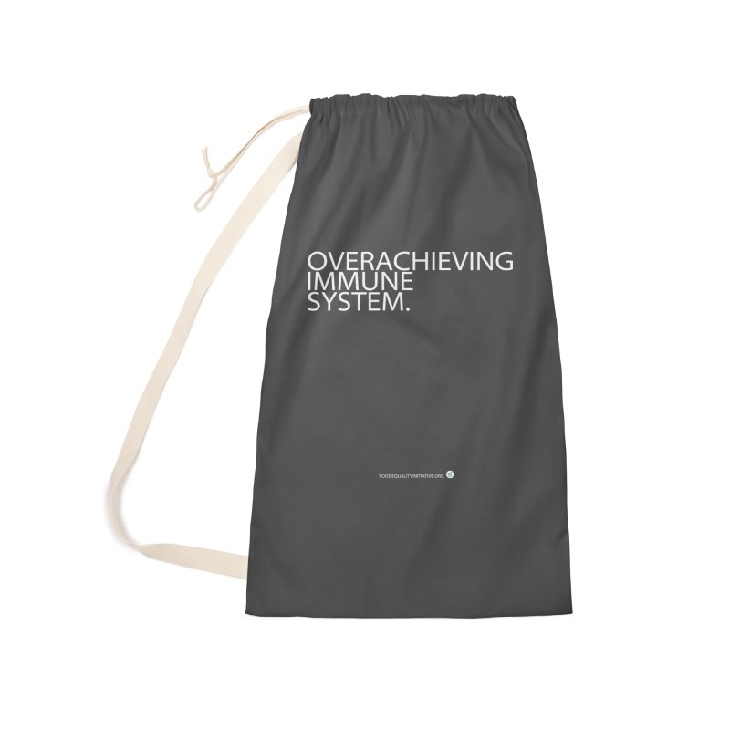 """Overachieving Immune System in White Accessories Bag by FoodEqualityShop""""s Artist Shop"""