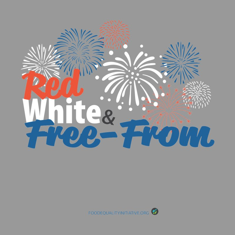 """Red White and Free-From Men's T-Shirt by FoodEqualityShop""""s Artist Shop"""
