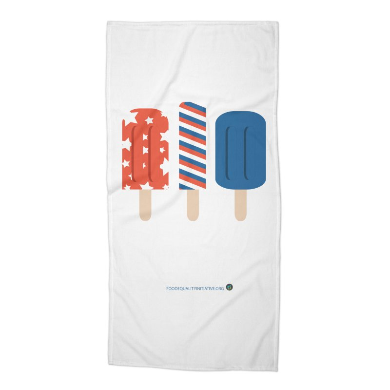 """Free-From Popsicles Accessories Beach Towel by FoodEqualityShop""""s Artist Shop"""