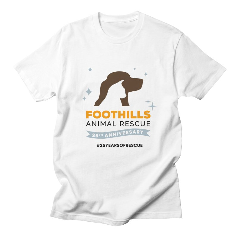 25th Anniversary Ribbon Women's Regular Unisex T-Shirt by Foothills Animal Rescue Swag