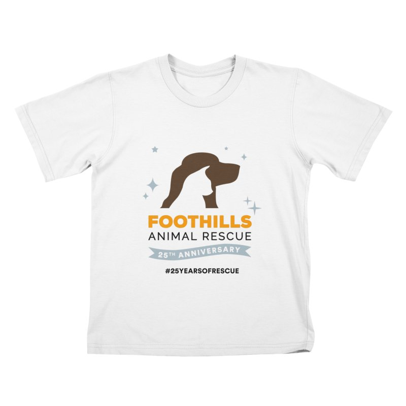 25th Anniversary Ribbon Kids T-Shirt by Foothills Animal Rescue Swag