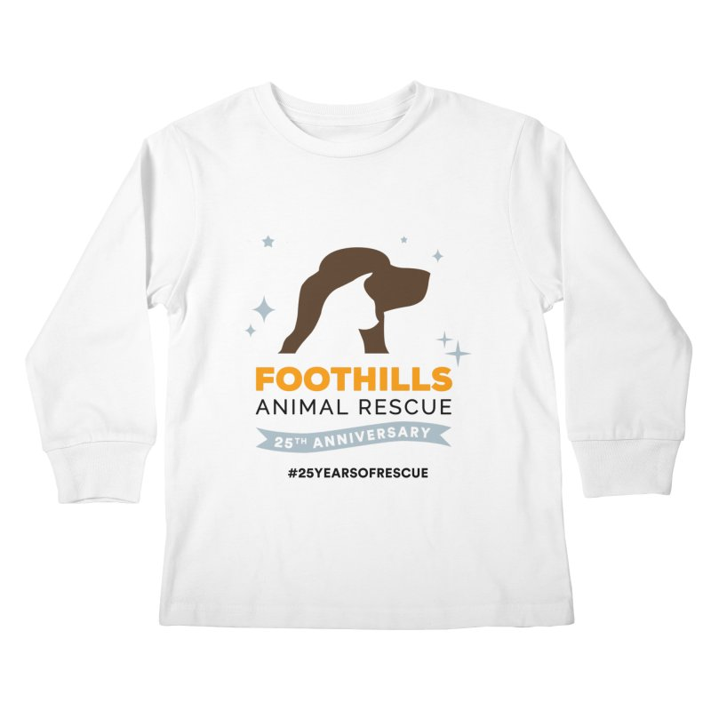 25th Anniversary Ribbon Kids Longsleeve T-Shirt by Foothills Animal Rescue Swag