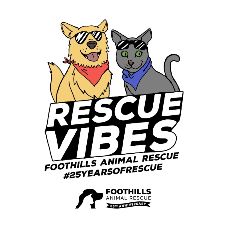 Rescue Vibes (Dark Text) Men's T-Shirt by Foothills Animal Rescue Swag