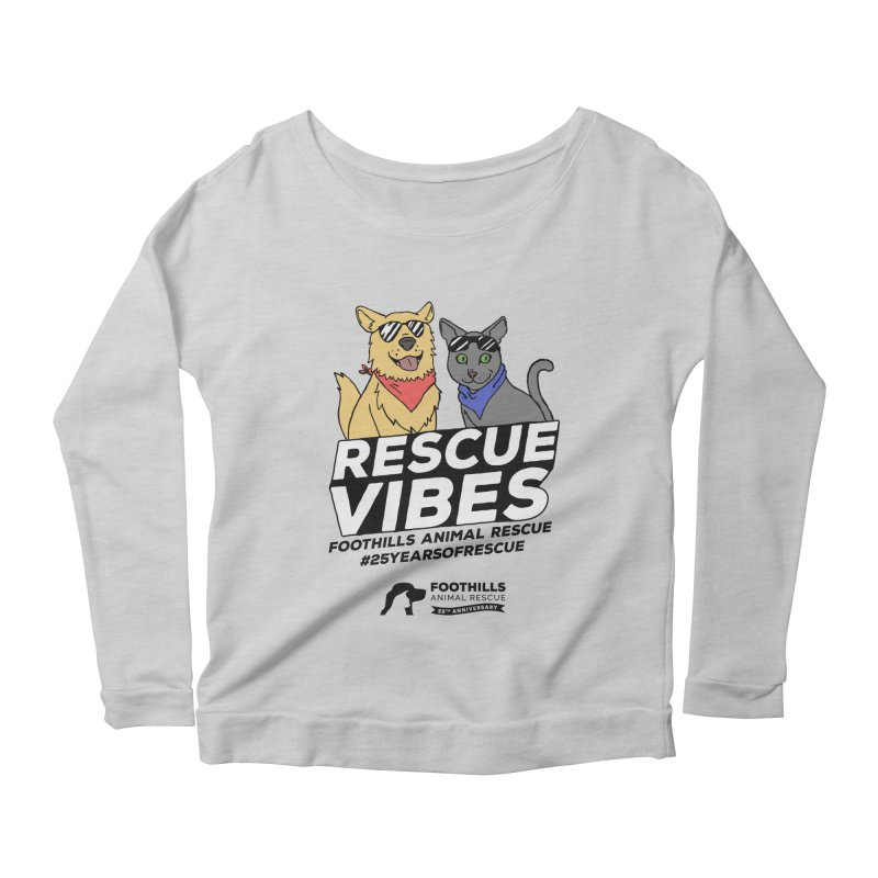 Rescue Vibes (Dark Text) Women's Longsleeve T-Shirt by Foothills Animal Rescue Swag