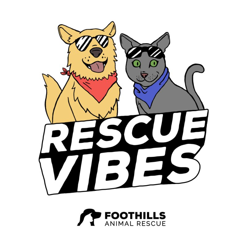 Rescue Vibes Shirt Men's T-Shirt by Foothills Animal Rescue Swag