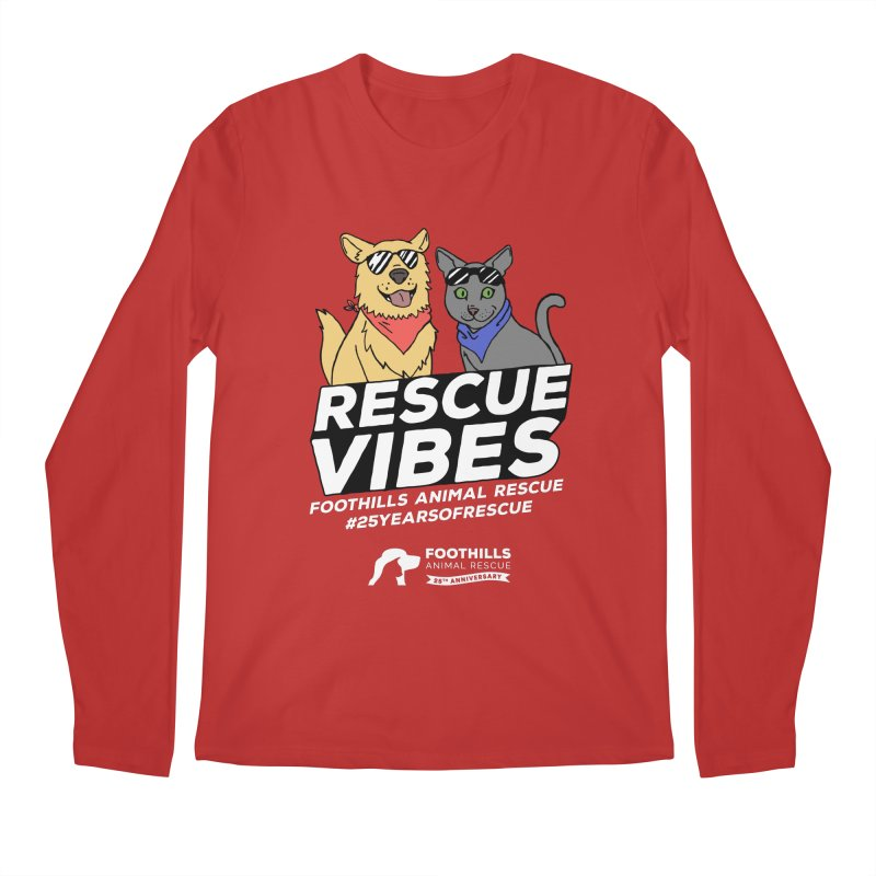 Rescue Vibes (Light Text) Men's Regular Longsleeve T-Shirt by Foothills Animal Rescue Swag