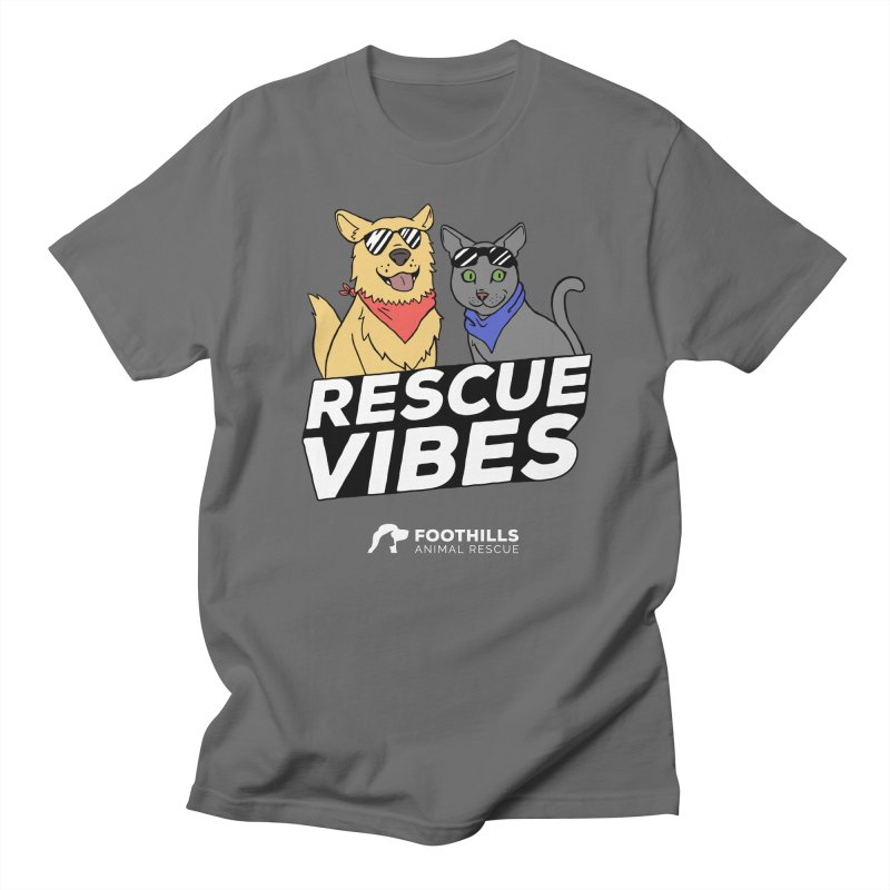 Rescue Vibes Shirt (Light) Men's T-Shirt by Foothills Animal Rescue Swag