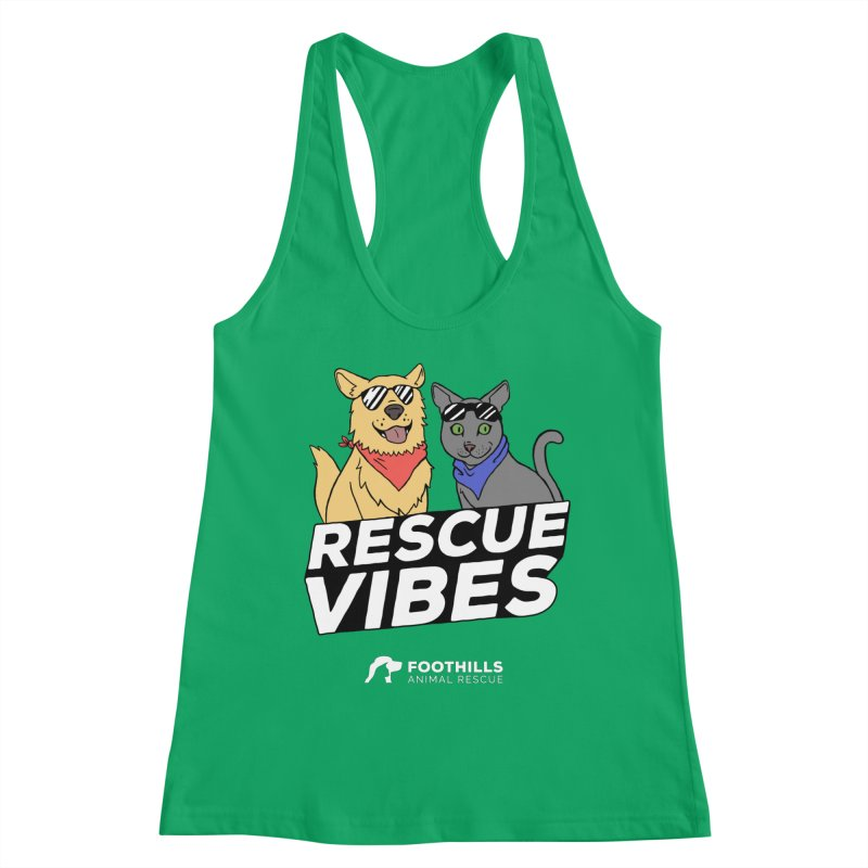 Rescue Vibes Shirt (Light) Women's Tank by Foothills Animal Rescue Swag