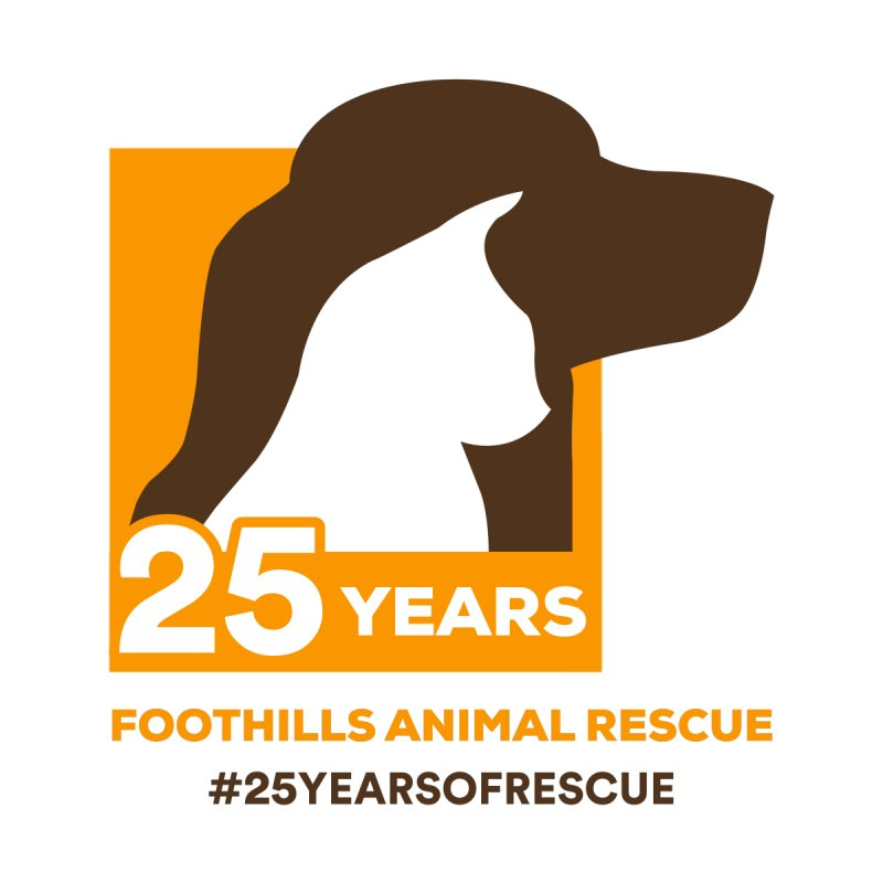 25 Years Emblem by Foothills Animal Rescue Swag