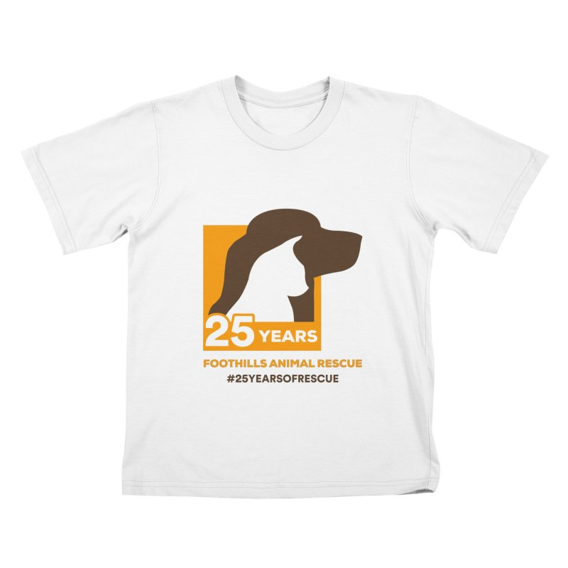25 Years Emblem Kids T-Shirt by Foothills Animal Rescue Swag