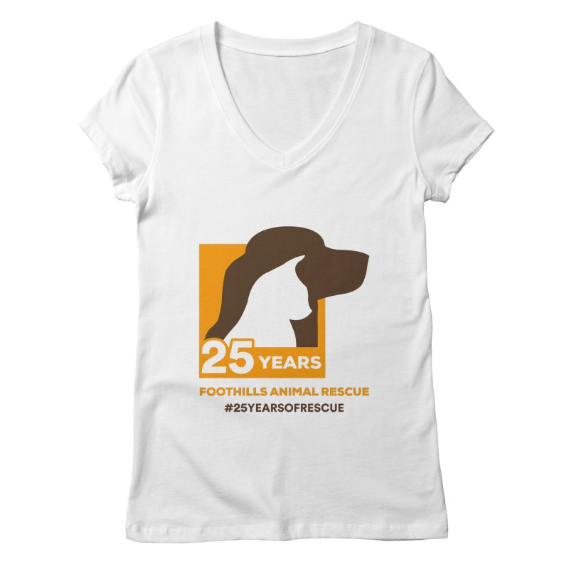 25 Years Emblem Women's Regular V-Neck by Foothills Animal Rescue Swag