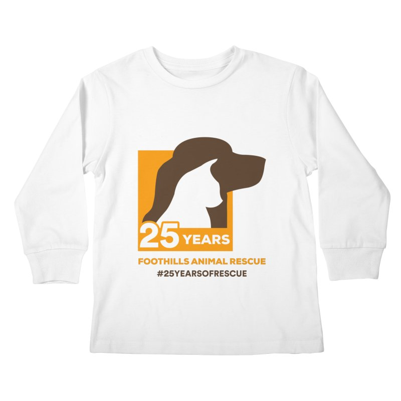 25 Years Emblem Kids Longsleeve T-Shirt by Foothills Animal Rescue Swag