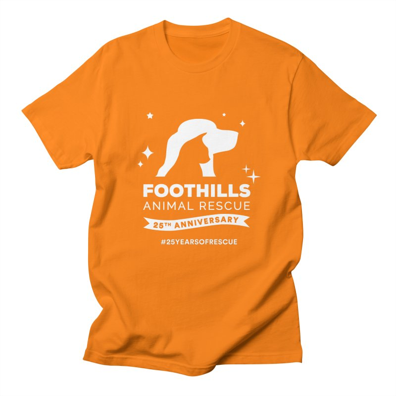 25th Anniversary Ribbon (Light Version) Women's Regular Unisex T-Shirt by Foothills Animal Rescue Swag